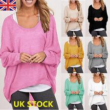 Autumn Winter Women Long Sleeve Pullover Loose Sweater Jumper Blouse Tops Shirt