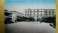 TARANTO - PIAZZA DEL MERCATO - VIAGGIATA - ANIMATA - A COLORI - 1913