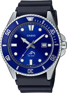 Casio MDV106B-2A, Men's Analog Watch, Black Resin Band, Date, 200 Meter WR