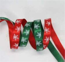Xmas CHRISTMAS Red and Green 1cm Ribbon Decor Gift Present