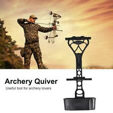 Compound Bow 6-Arrow Quiver Adjustable for Compound Bow Hunting Shooting Black