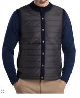 Barbour Men's Navy Blue Essential Quilted Snap Gilet Vest Size M $165 EUC!