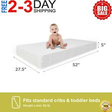Child Crib Mattress Firm Baby Toddler Waterproof Bed Infant Comfort Sleep Foam