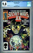 SECRET WARS II 3 CGC 9.8 WP 1st full BEYONDER PERMANENT FORM NewCase MARVEL 1985