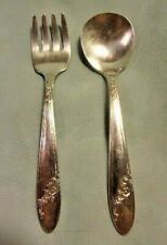 TUDOR PLATE ONEIDA COMMUNITY CHILD'S FORK & SPOON, Queen Bess Pattern, 4-7/8 in.