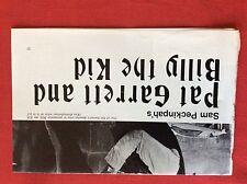 m2q ephemera 1970s film article pat garrett and billy the kid peckinpah dylan