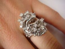 UNIQUE 1 CARAT DIAMOND RING WITH NUGGET SIDES FREE STYLE 11 GRAMS SIZE 5 1/4