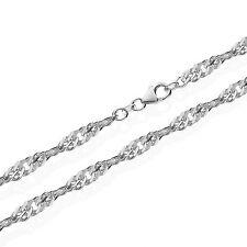 925er verdadera plata Sterling singapur cadena girado 45cm 4,60mm 14gr 5927