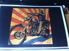 Vintage Frankenstein On Harley Chopper Poster Man Cave Garage Art X3999