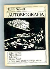 SITWELLL EDITH AUTOBIOGRAFIA RIZZOLI 1968  I° EDIZ.