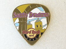 Hard Rock Cafe Pin SANTO DOMINGO POSTCARD Guitar Pick Series