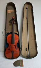 Lovely antique 4/4 Violin for minor restoration with Bow, Tailpiece. A/F Case.