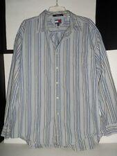 Tommy Hilfiger Button Down Shirt Striped XXL Cotton  Men's Long Sleeve