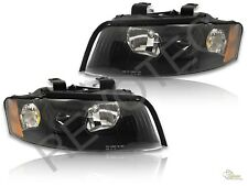 02-05 Audi A4 S4 B6 Sedan Wagon Quattro Halogen Black Headlights RH & LH