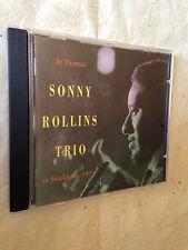 ST THOMAS SONNY ROLLINS TRIO IN STOCKHOLM 1959 DRCD 229 1993 JAZZ