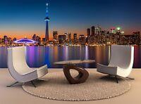 Photo Wall Mural Toronto Skyline Dusk 3D Wall Home Decor Removable Mural Print