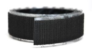 "2"" Wide VELCRO® Brand Hook Side Only HIGH TACK Self Adhesive Black Strip- 1 YARD"