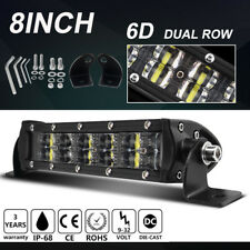 6D 120W 8inch LED Light Bar Offroad Driving car Boat Truck 4WD Bumper 12V 24V 9""