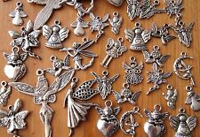30x Mixed Tibetan Silver Christmas Guardian Angel Fairy Charms Pendants (TSC28)
