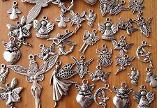 30x Mixed Tibetan Silver Christmas Guardian Angel Fairy Charms Pendants (TSC121)