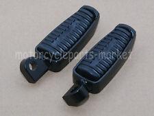Black Rubber Billet Rear Front Foot Pegs For Harley Sportster Dyna Road King XL