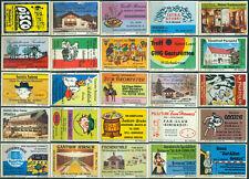 25 alte Gasthaus-Streichholzetiketten aus Deutschland #907