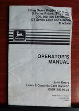 John Deere Operators Manual - Grass Bagger- R S STX 100 200 300 400 Lawn Tractor