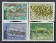 CANADA #1306-1309 40¢ Prehistoric Life in Canada Block MNH - A