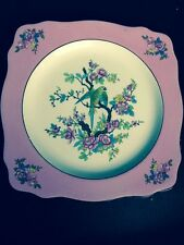 Crown Ducal Flowered Bird Plate