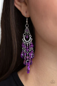 Paparazzi ~ Paid Vacation Purple Earrings ~ 🔥NEW RELEASE 2021🔥~ WOW