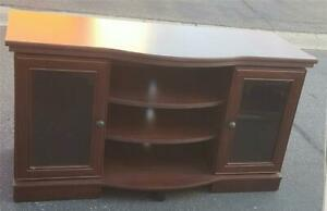Lovely Pre-Owned Wood Veneer Television Stand - GREAT ITEM - CONTEMPORARY LOOK
