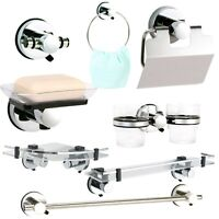 Axis Super Suction Wall Mounted Bathroom Accessories, No Drilling Required