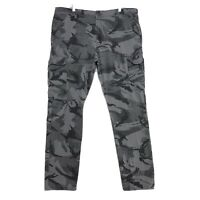 Wrangler Cargo Pants Mens Sz 40 x 32 Green Camouflage Stretch Fit Camo Reg Taper