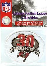 2005 Tampa Bay Buccaneers WHITE 30th Season Anniversary Patch Original Packaging