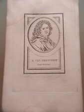 GRAVURE 1860 A VAN DER WERFF PEINTRE  HOLLANDAIS