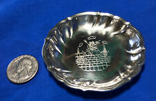 VTG Danish Silver Plate Dish Hans Christian Andersen SHEPHERDESS & CHIMNEY SWEEP