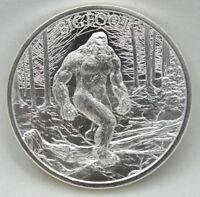Bigfoot .999 Silver Art Medal Sasquatch Big Foot Animal - 1 oz Round - AZ669