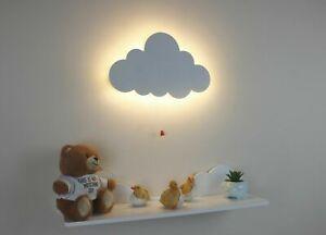 Wooden Cloud Wall Hanging Baby Kids Bedroom Nursery  Playroom Wall Decor