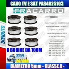 CAVO TV E SATELLITARE FRACARRO Diametro 5mm, CLASSE A 600MT (PAS4025103)