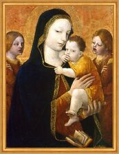 The Virgin and Child with two Angels Ambrogio Bergognone Jesus Maria B A1 00444