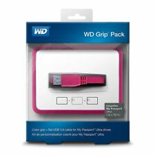WD Grip Pack for My Passport Ultra 2TB with USB 3.0 Cable, Fuchsia