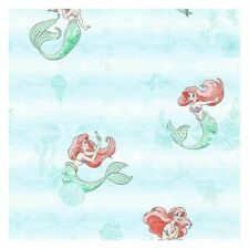 York DI0954 Wallpaper Disney The Little Mermaid Swim Unpasted Teal Wallcoverings