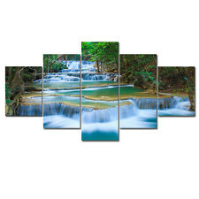 Large Canvas Print Painting Pic Home Wall Art Decor Forest Landscape Blue Framed