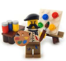NEW LEGO ARTIST w/ EASEL PALLETE & PAINT LOT brush art supplies minifig painter