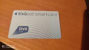 Scheda tessera carta smart card tivusat Tivu' Sat sbloccata già attivata
