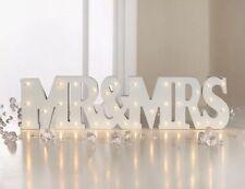 New MR&MRS White Light Up LED Sign - Wedding - Decor - Gift - Couple - Words