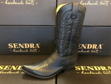 Sendra Boots Style 2073 Black Leather Western Cowboy Boots