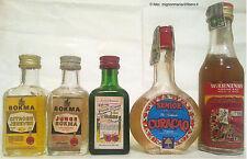 Liquori Lotto 6 mignon diverse olandesi prodotte in Olanda, Bokma, Advocaat ecc.