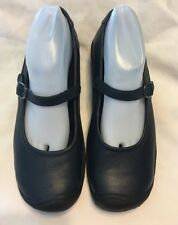 Keen Cush Black Leather Mary Jane Slip & Oil Resistant Womens Size 9.5 Shoes