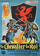 """""""LE CHEVALIER DU ROI (THE BLACK SHIELD OF FALWORTH)"""" Affiche originale entoilée"""